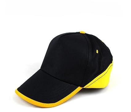 5de8844abd3 Eforstore Big Brim UV Protect Peaked Baseball Hat Cap Golf Cap Visor (Blue+ Yellow
