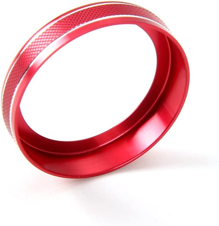 Thenice 6pcs Aluminum Alloy Air Conditioner /& Audio /& Trailer /& 4x4 Switch Knob Ring Console Button Cover Trim Bezel for Ford F150 XLT 2016 2017 2018 Red