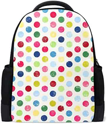 142941f5c864 imobaby Personalized Colorful Polka Dot Backpack Daypack Book Bag School  Bags for Boys Girls