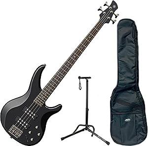 Yamaha TRBX304 BL TRBX-304 Black 4 String Bass Guitar w/ Gig Bag and Stand from Yamaha