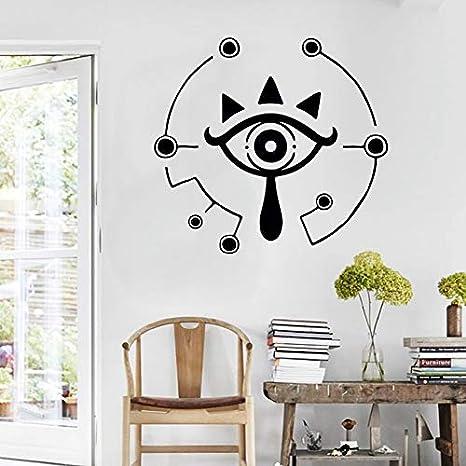 AGjDF Pegatinas de Ojos en la Pared de la habitación de los niños símbolo de cachimba Salvaje decoración del hogar Cartel del Juego decoración del Dormitorio Familiar -42x46cm
