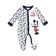 Disney Mickey Mouse Baby Boys' Mickey Mouse Footies Size 3-6M