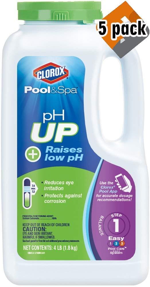Clorox Pool&Spa pH Up, 4-Pound 19004CLX (5 Pack) by Clorox