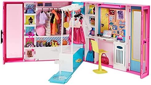Barbie Dream Closet with 30+ Pieces, Toy Closet,...