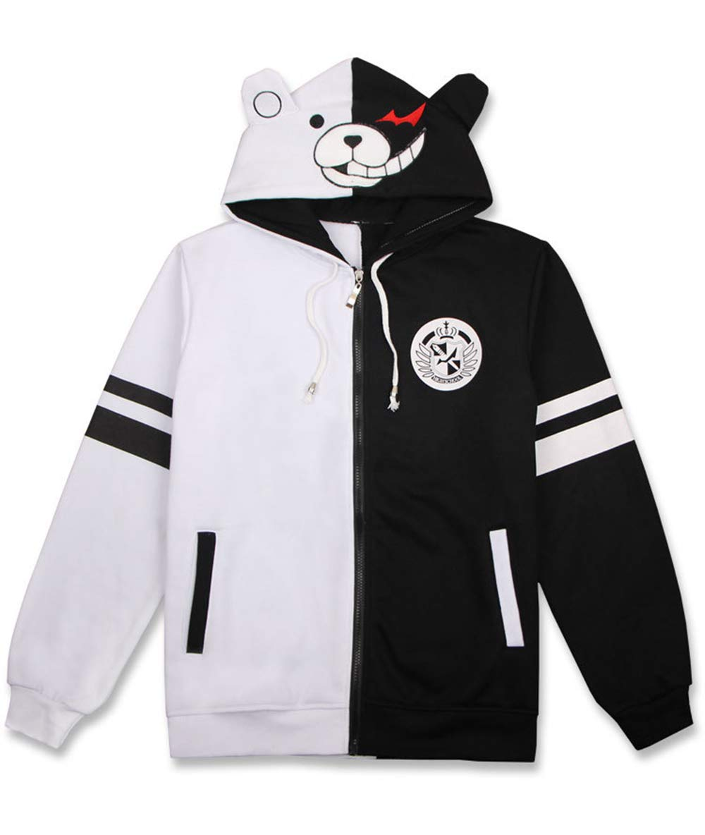 Danganronpa Monokuma Hoodies Anime Cosplay Costume Zipper Unisex Jacket Uniform