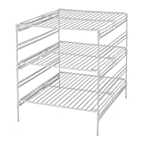 deep freezer shelves - Panacea Grayline 40918, 3 Adjustable Base Cabinet Helper Shelf, White