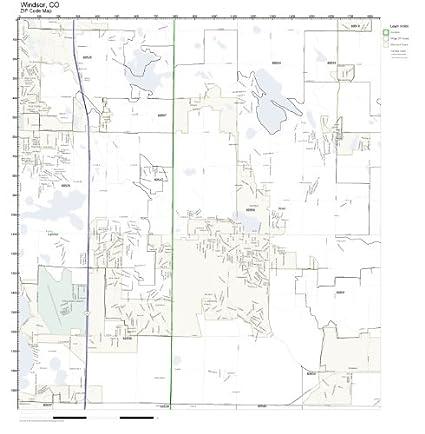 Amazon Com Zip Code Wall Map Of Windsor Co Zip Code Map Laminated