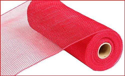 10 inch x 30 feet Deco Poly Mesh Ribbon - Value Mesh (Red)