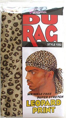 Tommy Stretch Spandex Leopard Print Du Rag Doo Rag Skull Cap Afro Black People Hair (Print Spandex Cap)