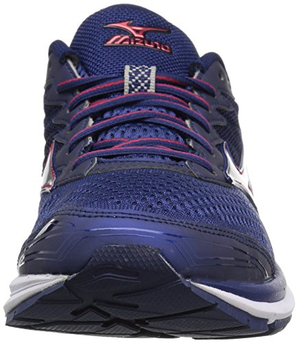 Mizuno Men's Wave Rider 20 Running Shoe Blue Depths/Silver NpdM58J