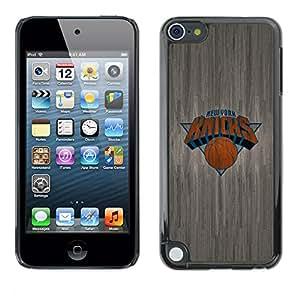 Patrón Knicks Madera - Metal de aluminio y de plástico duro Caja del teléfono - Negro - Apple iPod Touch 5