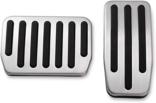 Auto Aluminum Foot Pedal Pads Pedal Covers for Tesla Model 3 BASENOR Model 3 Performance Pedal Set