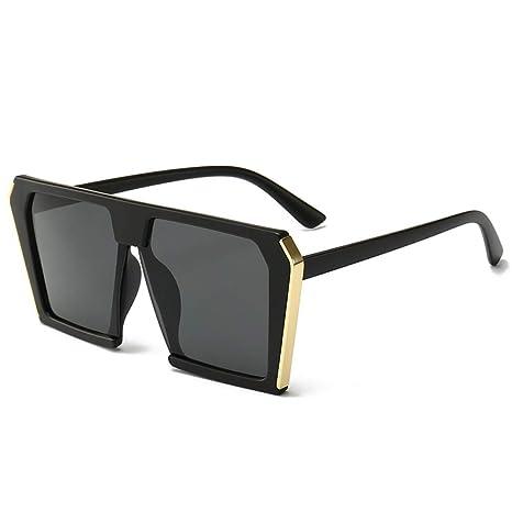 Yangjing-hl Gafas Tendencia Moda Caja Grande Gafas de Sol ...