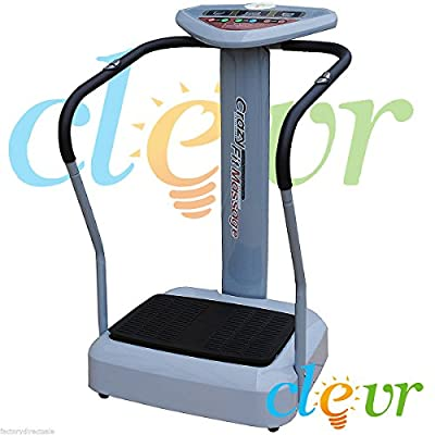 1000w Full Body Vibration Massage Machine Platform Crazy Fit Fitness Harmonics from clevr