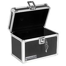Vaultz Locking 4 x 6 Index Card Box, Black (VZ01171)