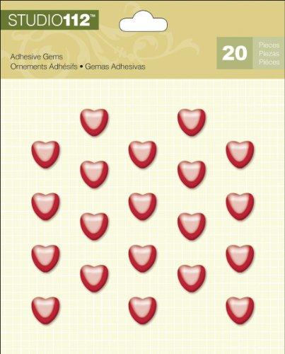 K&Company Studio 112 Heart Adhesive (Valentine Gems)