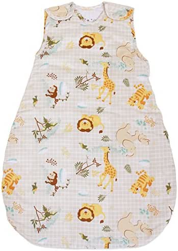Baby Sleeping Bag with Animal Pattern, 2.5 Tog's Quilted Winter Model (Small (3-11 mos))