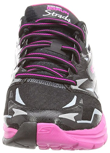 Zapatillas De Running Skechers Mujeres Go Run Strada Black / Hot Pink