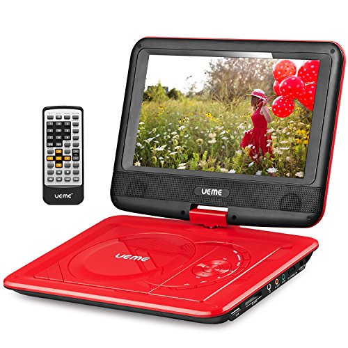 "UEME 9"" Portable DVD Player CD Player with Car Headrest Mount Holder 