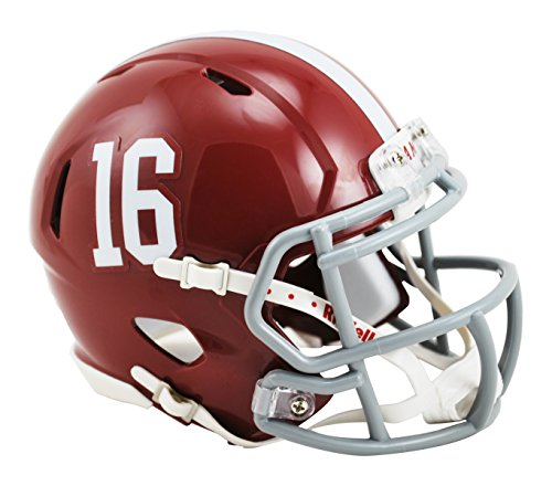 NCAA Alabama Crimson Tide Speed Mini Replica Helmet, Red, (Crimson Helmet)