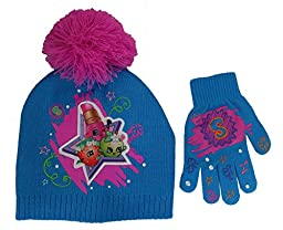 Shopkins Girls Stars Beanie Hat and Gloves Set [4013]
