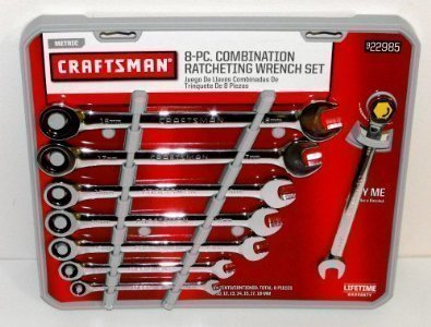 Metric Ratchet Wrench Set (Craftsman 8 pc Metric Combination Ratcheting Wrench Set, # 22985)