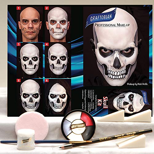 (Graftobian Skull Makeup Kit)