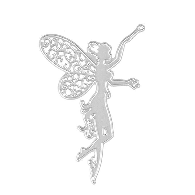 JiaMeng Plantillas de Estarcidos DIY con Forma Scrapbooking Gofrado Troquelado Kit Plantillas de moldes de Corte de Metales del Corazš®n de la Flor en ...