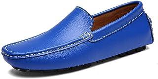 Oudan Chaussures de Mocassins pour Hommes, Mocassins de Conduite Penny pour Hommes Bare Vamp Leisure Boot Mocassins Semelle légère et légère en Caoutchouc (Couleur: Noir, Taille: 39 EU)