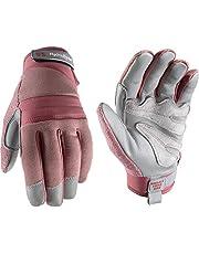Women's HydraHyde Water-Resistant Leather Palm Hybrid Work Gardening Gloves, Medium (Wells Lamont 7873)