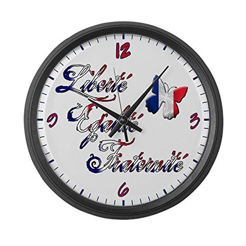Large Wall Clock France Motto: Liberte Egalite Fraternite