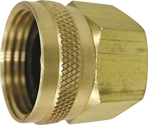 "Rocky Mountain Goods Double Female Swivel Hose Connector - 3/4"" Female Hose to 3/4"" Female Pipe - Heavy Duty Brass - Leak prevent design - For use with pressure washers or garden hoses"