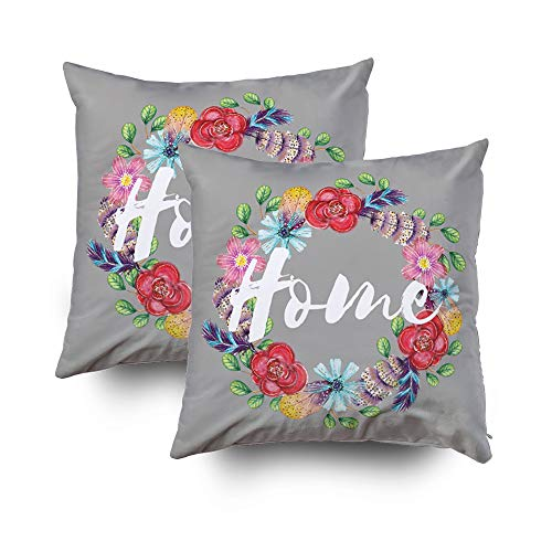 - Musesh Christmas Pack of 2 Cushions Case Throw Pillow Cover for Sofa Home Decorative Pillowslip Gift Ideas Household Pillowcase Zippered Pillow Covers 16x16Inch