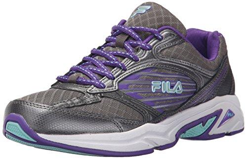 Fila Womens Inspell 3 Running Shoe Dark Silver/Electric Purple/Aruba Blue