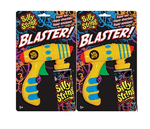 Silly String Toy Blaster Guns - Set of 2 Shooters - Attaches To All Cans of Silly String Streamers (Cans Sold Separately) ()