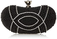 MG Collection Amalia Pearl Evening Bag, Black, One Size