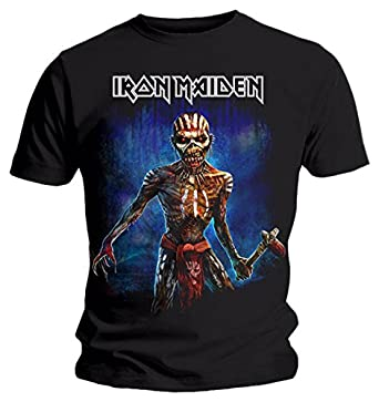 ac8bdaf8 Rock Men's Iron Maiden T-Shirt The Book Of Souls European Tour Axe Eddie  2017
