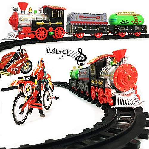 (Rentian Electric Polar Express Train Set Toys with Musial and Light)