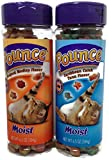 Pounce Moist Cat Treats Seafood Medley and Caribbean Catch Tuna Flavor, Combo Pack of 1 (6.5oz) Jar Each (2 Jars 13oz Total)