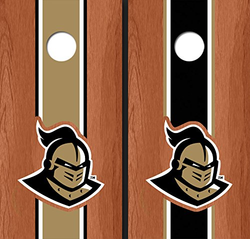 University of Central Florida '' Knightro'' Rosewood Alternating Long Stripe Cornhole Boards UCF 4119
