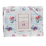 Hillcrest Kids Mermaid Cotton Sheet Set, Twin Size