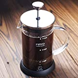 Decen 3 Cup Cafetière French Coffee Press Tea Press Stainless Steel Coffee Pot (600ML)
