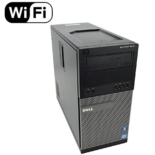 Dell Optiplex 9010 Tower Premium Business Desktop Computer (Intel Quad-Core i7-3770 up to 3.9GHz, 8GB DDR3 Memory, 2TB HDD + 120GB SSD, DVD, WiFi, Windows 10 Professional) (Renewed)