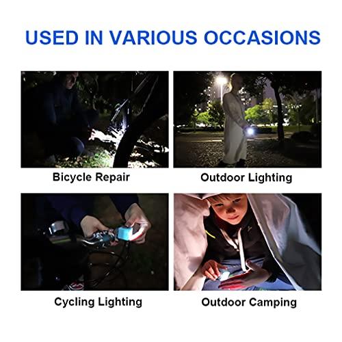 ZOFO LED Flashlights Rechargeable, Mini Handheld Flashlight for Kids, High Lumens Bike Lights, 3 Modes, Pocket Flashlight with USB Charging, IPX4 Waterproof- Camping, Night Hiking, Emergency(Black)