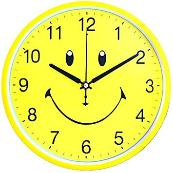 Amazon.com: Silent wall clock children cartoon watch compas clocks simple creative living room bedroom clock clock,26cm-black: Home & Kitchen