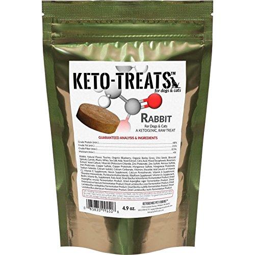Ketogenic Pet Foods - Keto-Treats (Rabbit) – High Protein, High Fat, Low Carb, Starch Free Dog & Cat Treats - 4.9 oz. Bag