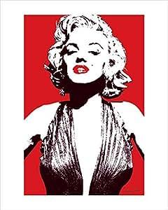 Marilyn Monroe Red print