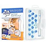 MEXITOP Ear Wax Cleaner, 16 New-Designed Replacement Tips, Ear Pick Spiral Improves the Effect of Ear Wax Removal Drop + Bonus Noise Canceling Ear Plugs, Blue (MEXITOP Official Release)