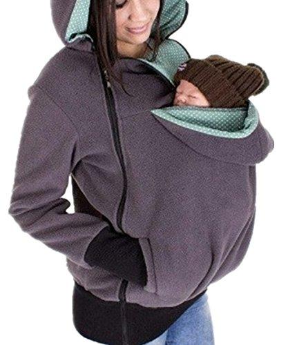 Shele Women Maternity Kangaroo Hoody Sweatshirt for Baby Carriers