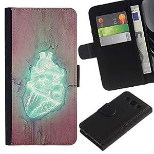 """A-type (Corazón Biohazard"""") Colorida Impresión Funda Cuero Monedero Caja Bolsa Cubierta Caja Piel Card Slots Para Samsung Galaxy S3 III i9300 i747"""